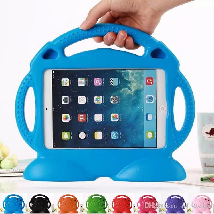 Для iPad air2 Pro 9.7 mini 1 2 3 4 дети милый Локомотив мультфильм противоударный Безопасный EVA пены стенд чехол нетоксичный