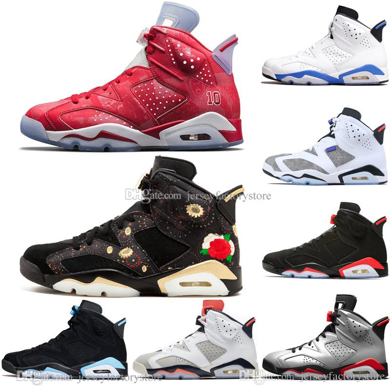 2019 Bred 6 6s Chaussures Hommes de basket-ball infrarouge 23 Bugs 3M Reflective Lapin Tinker Black Cat UNC Hommes Sport Sneakers Baskets femme US 7-13