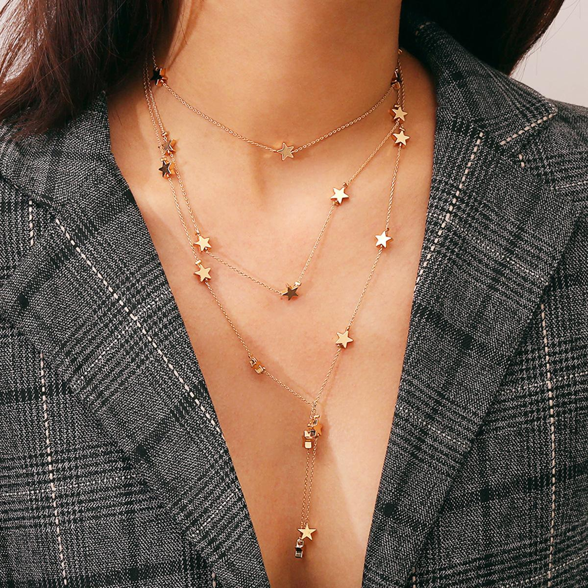 New arrival modern personalized custom Women Korean style Fashionable pendant tassel necklace wholesale adult jewelry accessories