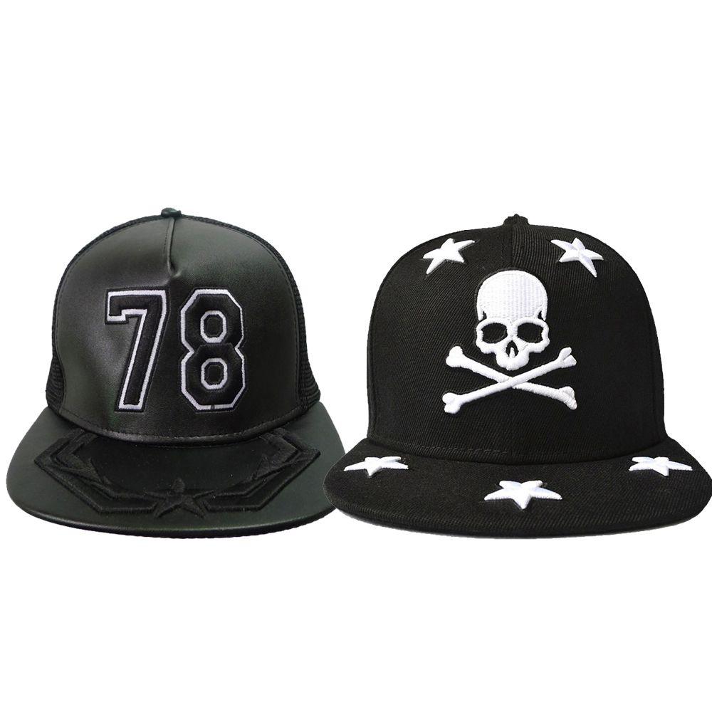 Stickerei 78 und schädelstern Baseballmütze Hysteresenhüte und Mützen Für Männer / Frauen Marke Sport Hip Hop Flache Sonnenhut Herren Casquette
