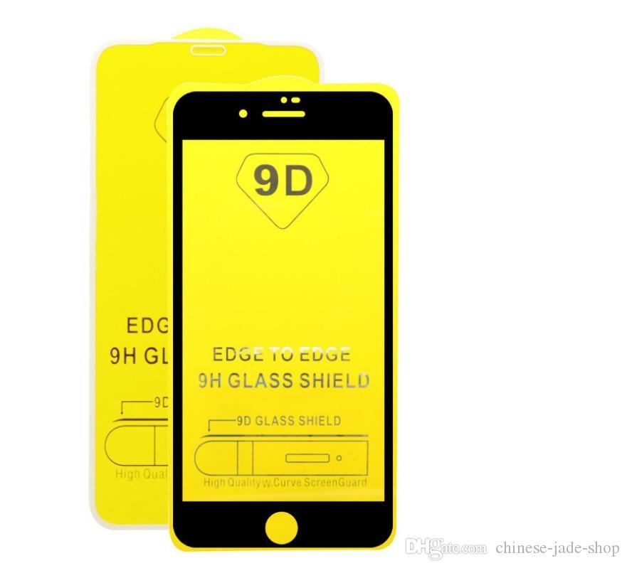풀 커버 21D 9D 강화 유리 화면 보호기 iPhone 11 Pro Max XS Max 6 6S 7 8 Plus 800PC 용