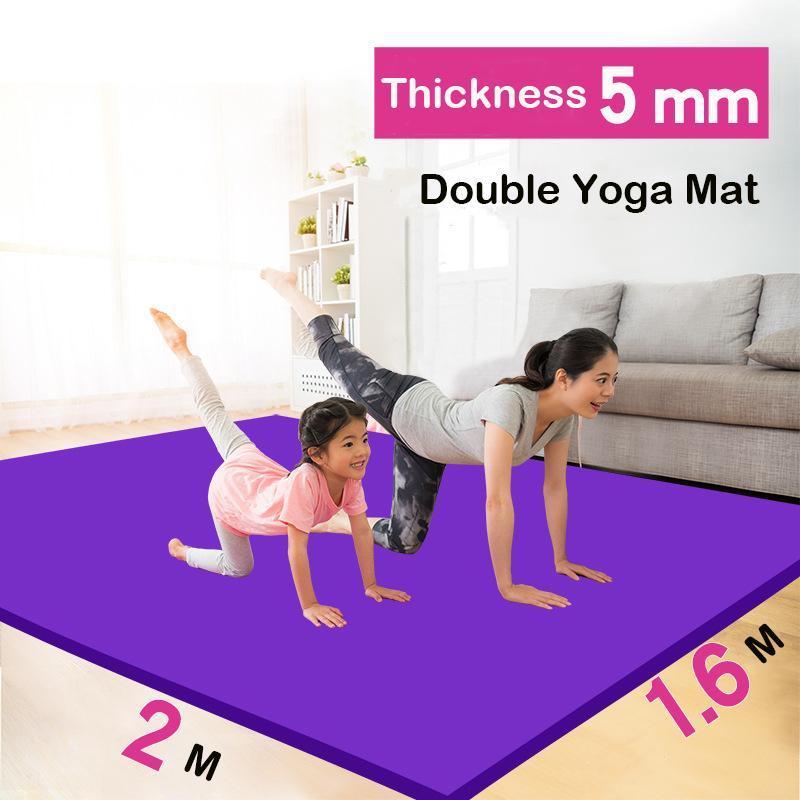 Vente usine Extra Large Double Yoga Mat 2m épaissie évasé antidérapage protection de l'environnement Allongé Yoga pour enfants Mat