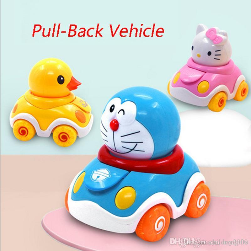 Hello kitty Baby Inertia Vehicles Doraemon Push and Go Toddlers Mini Friction Plastic Powered Car Toys Gift for Children Kids toys