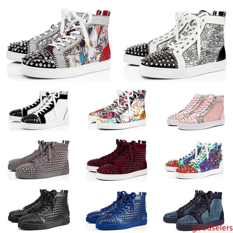 2020 chaussures pour hommes, femmes baskets mode pic triple hommes en cuir en daim noir blanc rouge trainer chaussure de fond plat