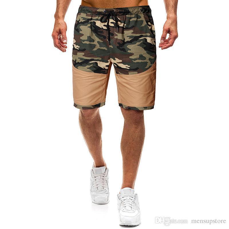 Estate Casual Male Street Beach Sport Mezza Lunghezza Shorts Mens Camouflage Pantaloncini