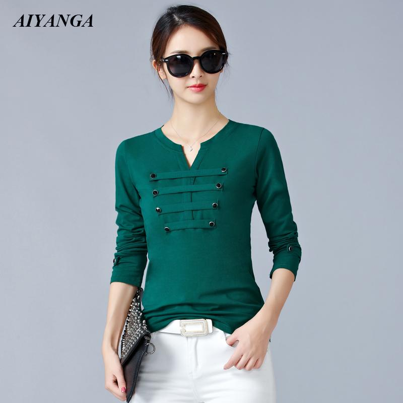 6 Color 2019 Spring T-Shirts Women Long Sleeve T Shirts and Pullovers Plus Size T-Shirts For Women Slim Under Shirt Tops Female