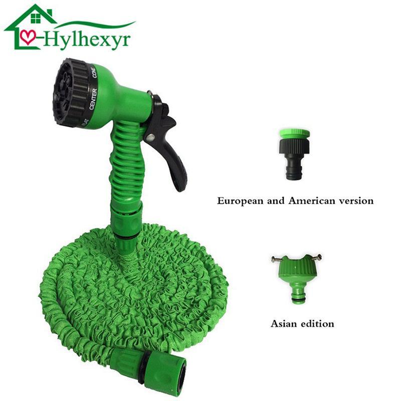 25-200FT espandibile magia calda flessibile di giardino Tubo Acqua per auto tubo tubo di plastica tubi da giardino set per irrigazione con pistola a spruzzo