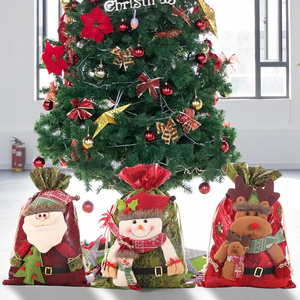 Joyeux Noël Sacs cadeaux Père Noël arbre de Noël sacs d'emballage Bonne année de sucrerie de Noël Navidad Noël Candy Bag A30831