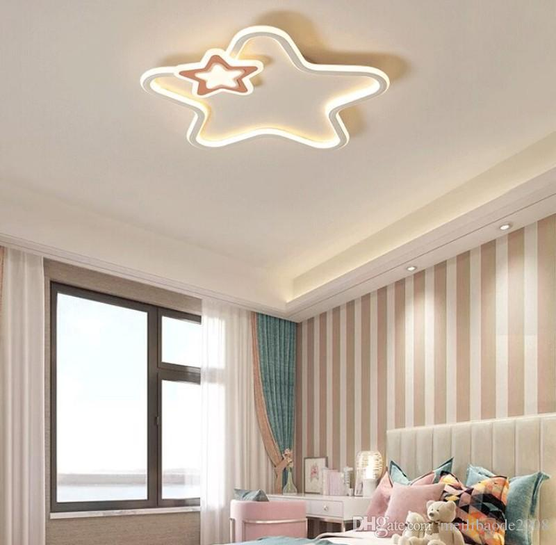 2021 Modern Led Ceiling Light Baby Room Lights For Children Room Kids Boys Girls Bedroom Lighting White Pink Star Ceiling Lamp MYY From Meilibaode2008, $119.4 | DHgate.Com