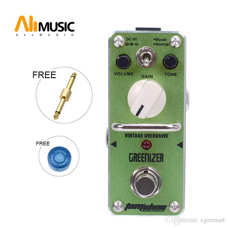 Nuovo AROMA AGR-3 GREENIZER Vintage Overdrive Mini Effect analogica True Bypass | + connettore libero