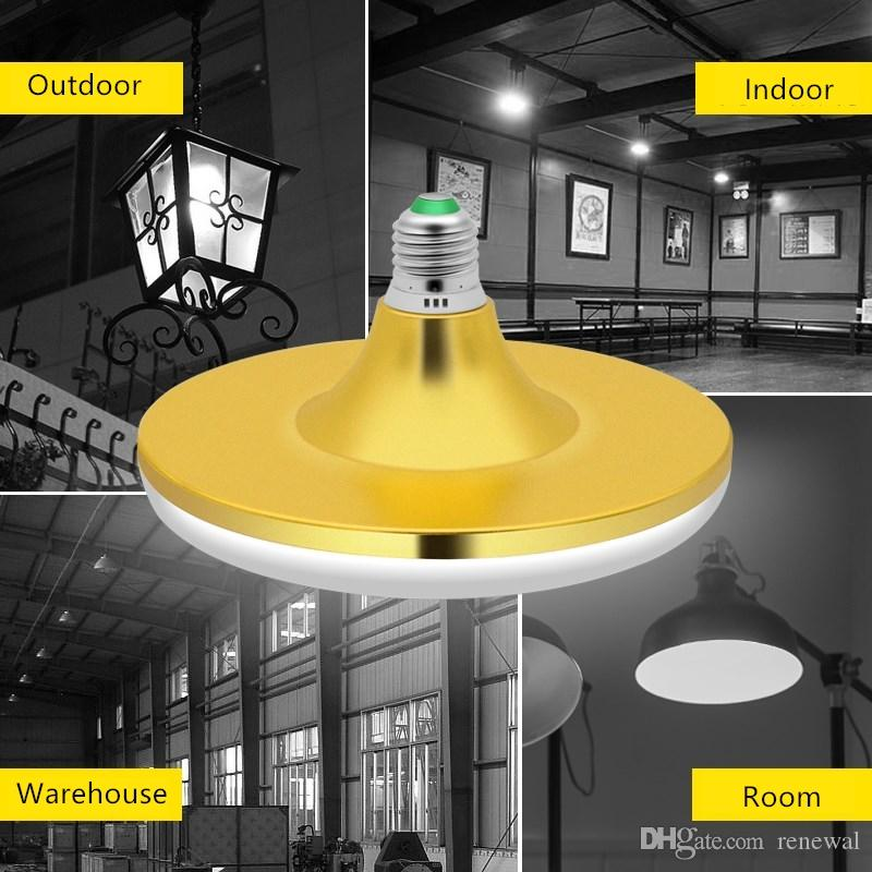 Économie D'énergie E27 Led Ampoule Lumière 220 V 15 W 20 W 30 W 40 W 50 W 60 W Lampada Ampoule Bombilla Super Lumineux UFO Lampe pour la maison entrepôt
