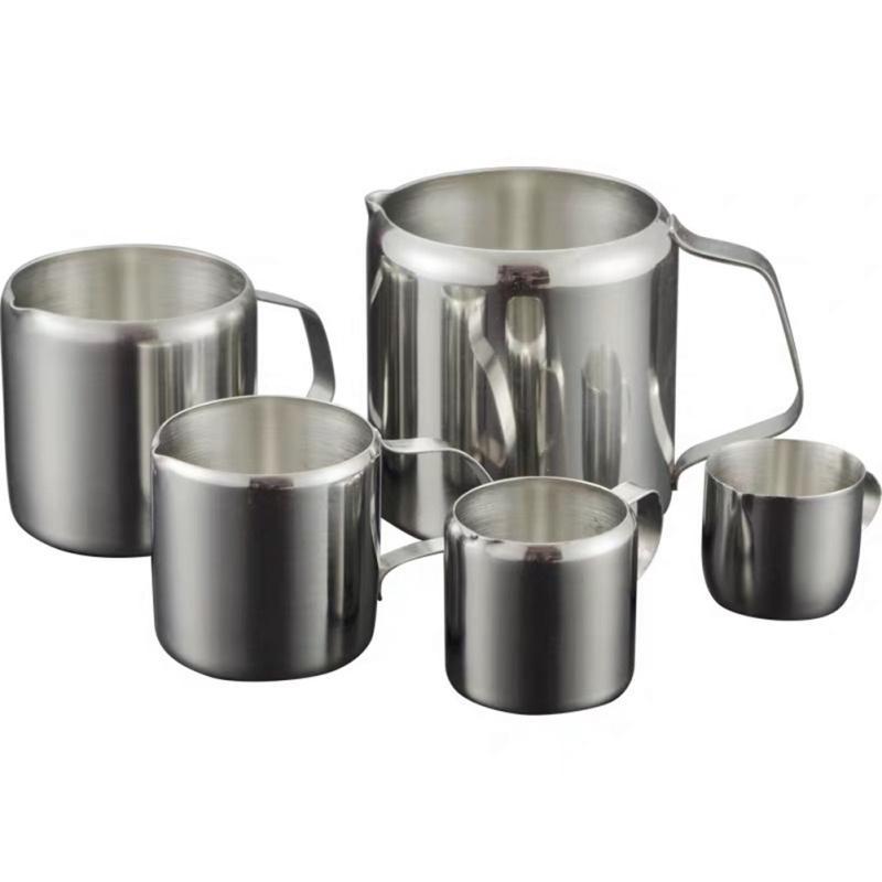 Bacalı Kahve Aksesuar ile Paslanmaz Çelik süt köpürtme Sürahi Kahve Kreması Çekme Çiçek Kupası Süt Krem Kupası Latte Art Sürahi