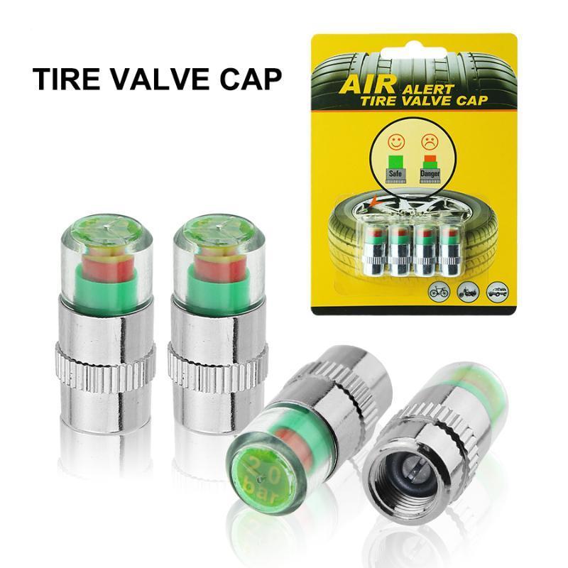 Auto Reifen Druck Monitor Ventilschaft Kappe Auto Sensor Anzeige Diagnose Tools Kit Air Alert Mit 4 STÜCKE