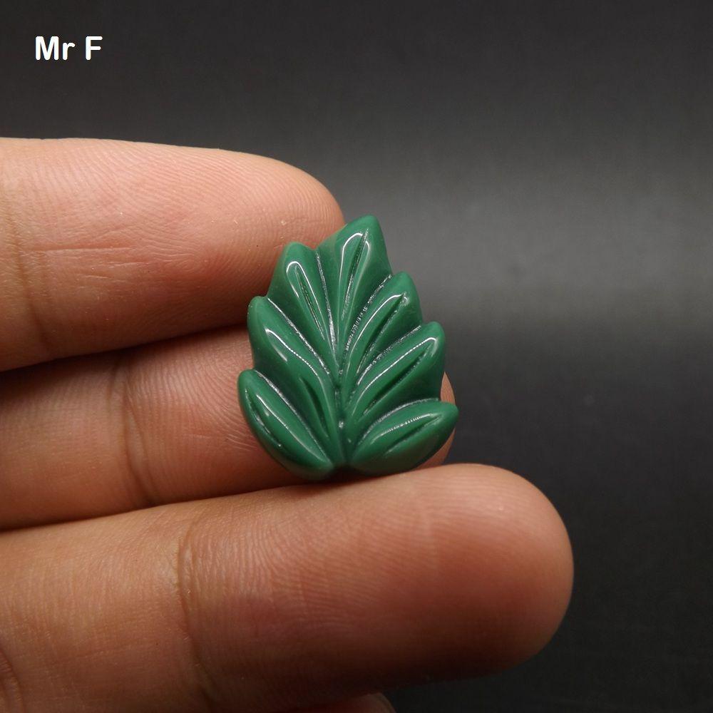 Craft Acessório Prop Deep Green Folha Plano Voltar Resina Modelo Kawaii Toy DIY Small Size