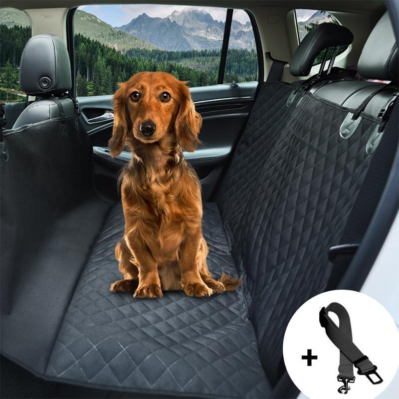 مقعد سيارة الكلب الغلاف مشاهدة شبكة ماء مقعد محبوب شركة نقل جوي السيارة الخلفي خلف مات الأرجوحة وسادة حامي مع زيبر وجيوب