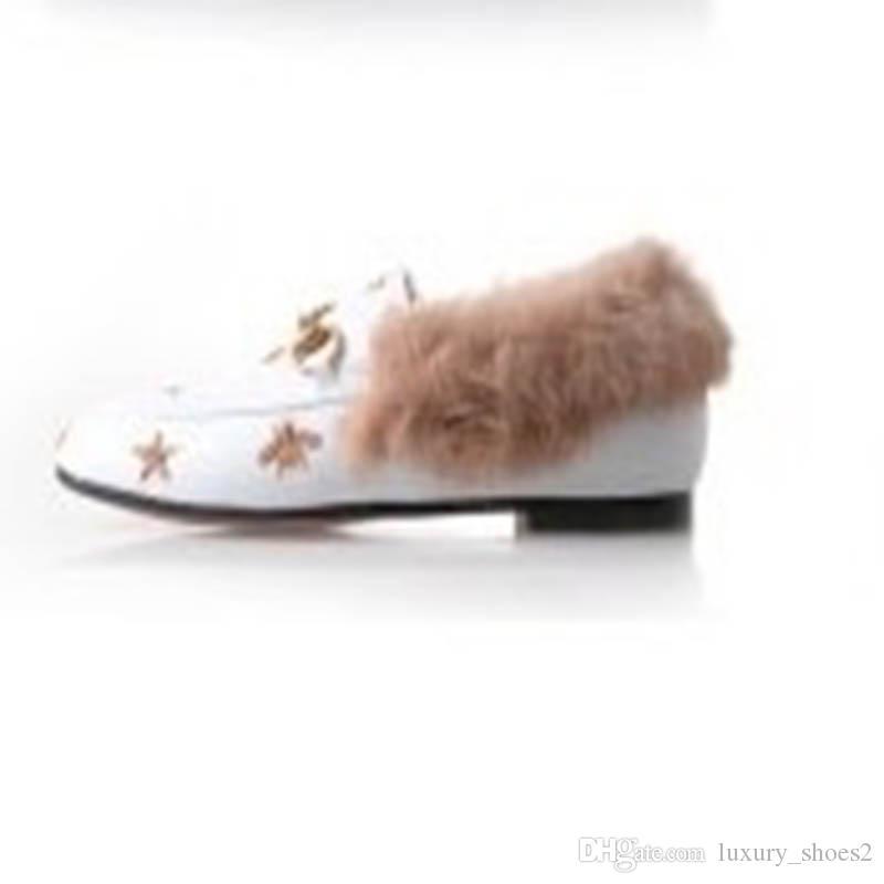 33-43 tamaño de las señoras grandes zapatillas al aire libre plano de cuero de gamuza zapatos de la flor de la serpiente de la moda mula mula piel zapatillas otoño y el invierno 2998 zapatos UU9