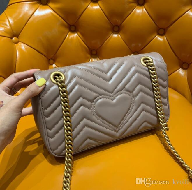 2019 Designer classico 2G Tag Amanti della ragazza di alta qualità a forma di cuore spalla donna lusso Borse moda Borsa trucco borse borsa