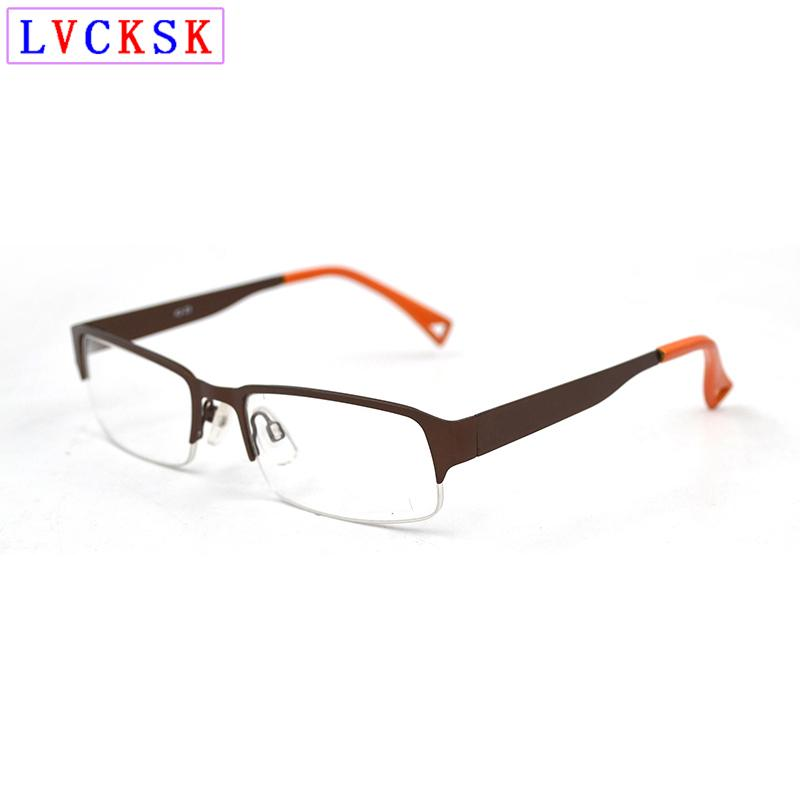New Fashion Semi Rimless Metal Transparent Glasses Women Men Business Clear Glass Glasses Prescription Spectacles Frames L3
