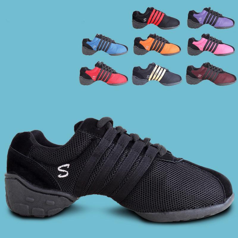 2017 Marca New Mulheres Meninas Sapatos de dança Jazz Hip Hop Shoes Salsa dança latino Sneakers Mulher Plus Size Para 34 ~ 43