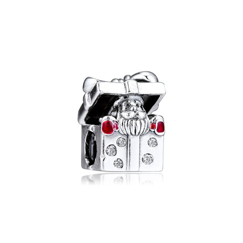 CKK braccialetto adatto Santa in un fascini d'argento GiftBox 925 perle originali per i monili che fanno Sterling Silver Perle Berloque