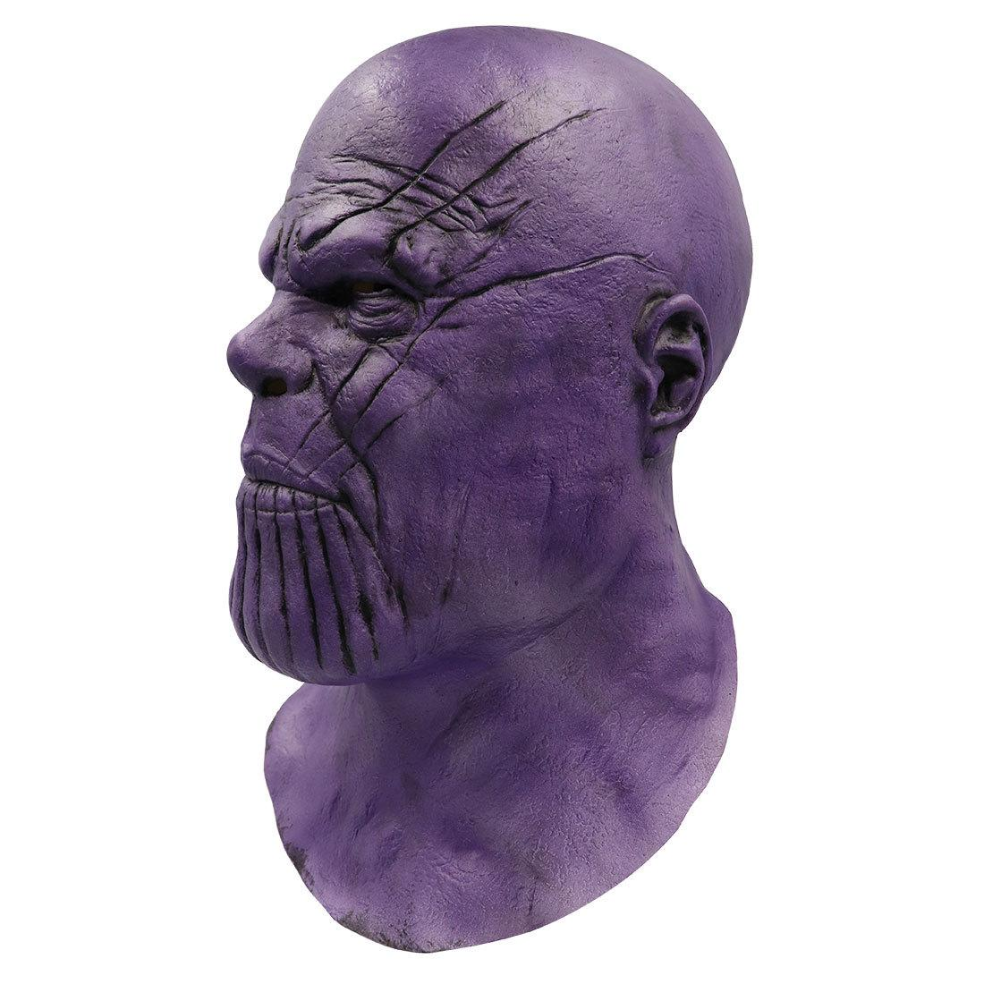 [New] Cosplay Avengers Marvel Heroes Thanos mask latex Action Figure Toy model costume party Adult child best gift toys