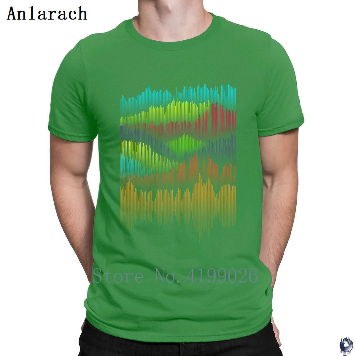 Звук Пейзаж тенниска Настройка Новизна 100% Летняя стиль футболка для мужчин новых джентльменов фанки Anlarach верхней тройник