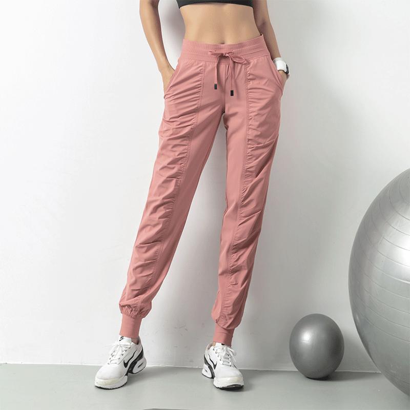 Respirant FEMMES Pantalon Sweat Minceur Loose-Fit Courir Pantalon Capri Fitness Pocket Casual Leg Gym Poutre