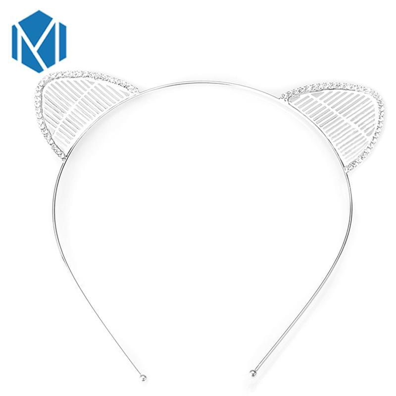 MISM Girls Hair Accessories band Cute Cat Cosplay Shiny Rhinestone Headband Mouse Ear Hair Jewelry Headwear Party Gift Headbands