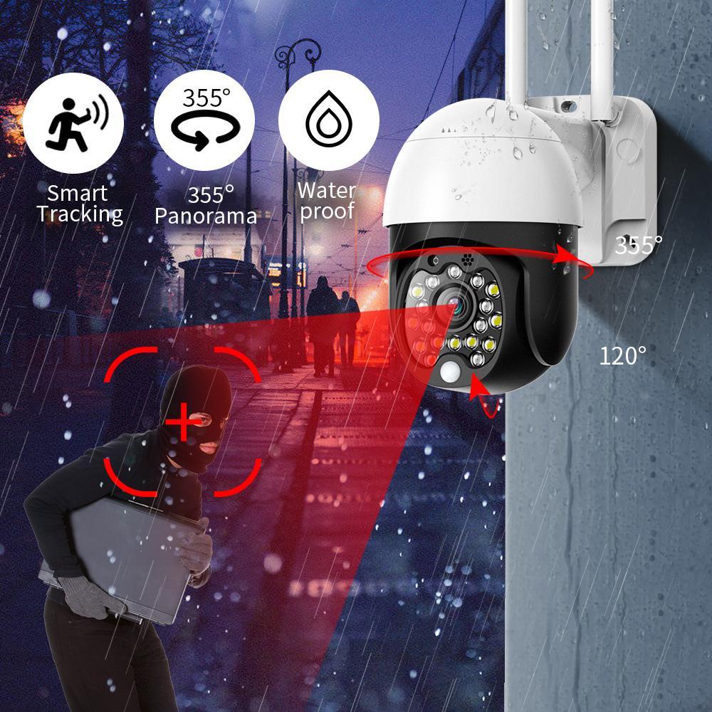 1080P 보안 WIFI 카메라 야외 PTZ 스피드 돔 무선 CCTV IP 카메라 팬 틸트 4 배 줌 오디오 IR 감시 P2P의 CAM
