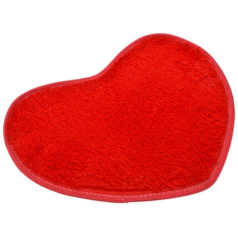 Heart Fluffy Rug Shaggy Floor Mat Soft Micro Fiber Home Room Bedroom Carpet Hot