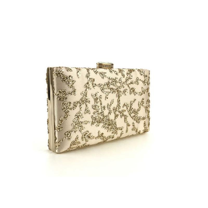 Женская мода Вечерние клатчи 2017 года Luxury Блестки мешок вечера Свадьба Малый мешок плеча женщин Пром сумка с цепочкой