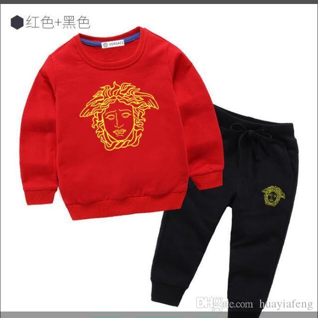 Hot Babys Outfits Kleinkind Brief top + Dinosaurier gedruckt Hosen 2pcs 2019 Sommer-Mode-Boutique Kinder Kleidung Sets C5933