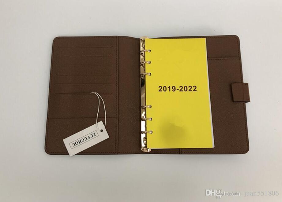 2020 Marke Agenda Marke Anmerkungen Buch Cover Leder Tagebuch Leder mit Staubbeutel und Rechnungskarte Hinweis Bücher Heißer Verkauf Stil Goldring
