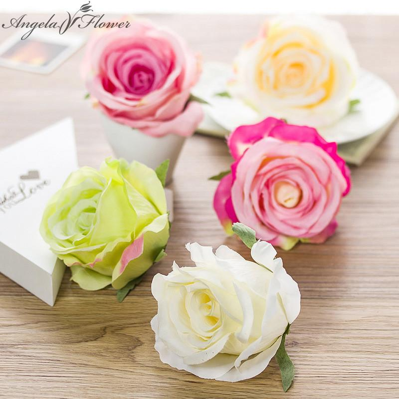 50PCS/lot Artificial rose flower head silk DIY arched fake flower wall wedding decoration the new DIY for home shop window decor C18112601