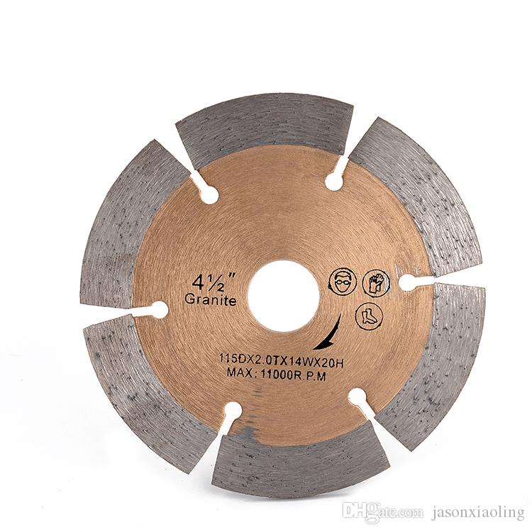 Fast Cutting Circular Saw Blades 4.5 Inch D115mm Sintered Hot Press Diamond Cutting Disc for Granite Ceramic Tiles 10PCS