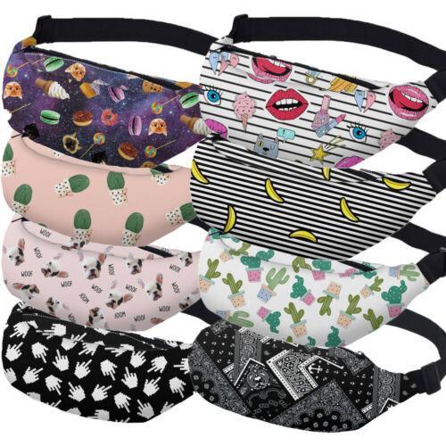 Paquetes de Fanny Fanny Señora de la cintura correa del paquete de la cadera del bolso del vago de la correa del encanto del teléfono Mini portátiles Mujeres cintura empaqueta la manera del estilo