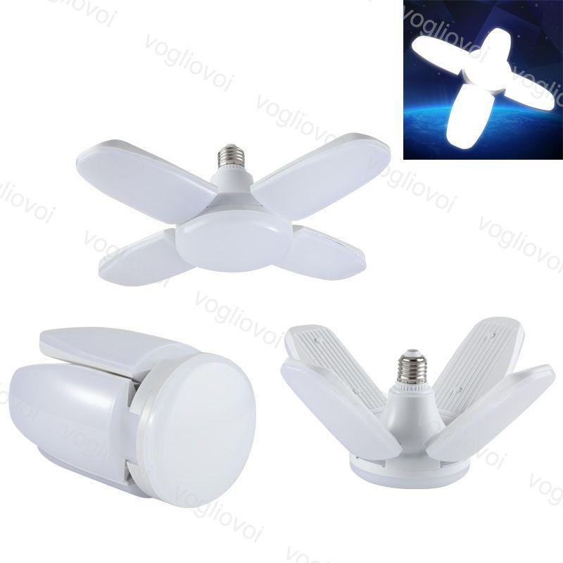 LED Ampuller UFO 45W Serin Beyaz 85 V-265 V E27 Katlanabilir Fan Blade 360 Açı Ayarlanabilir Bar Salonu Tavan Lambası Kapalı Işıklar DHL