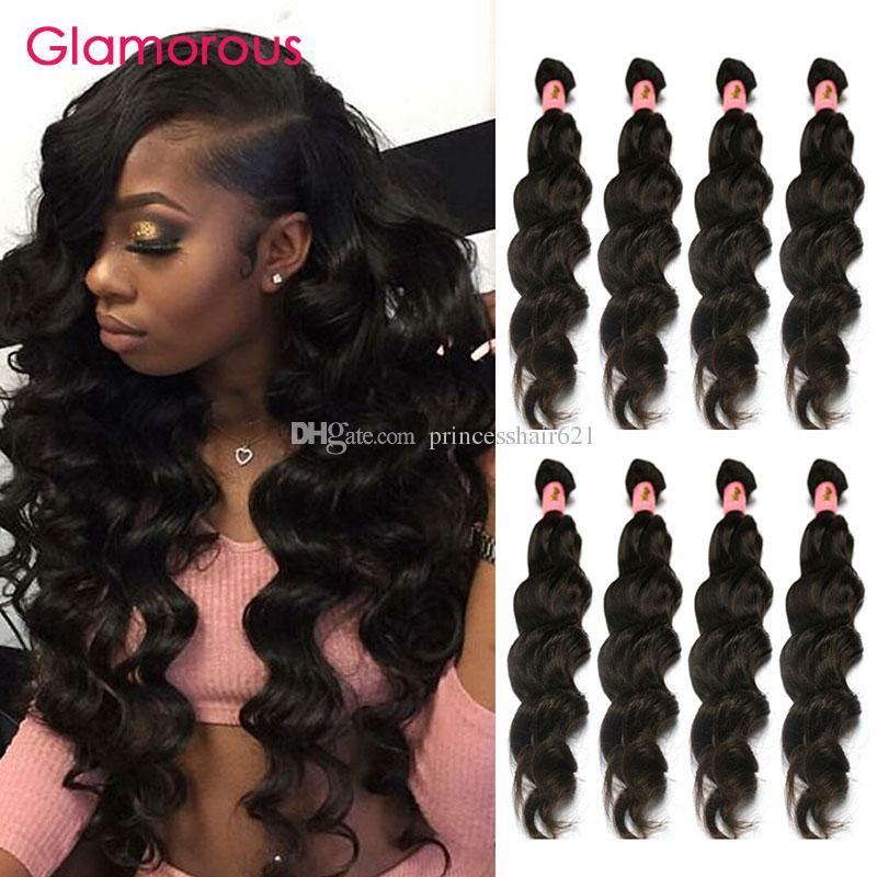 華やかなベストセラー二重weftedマレーシアのヘアエクステンション100%人間の髪の毛深いペルーのインドのブラジルの髪織り4つのバンドル