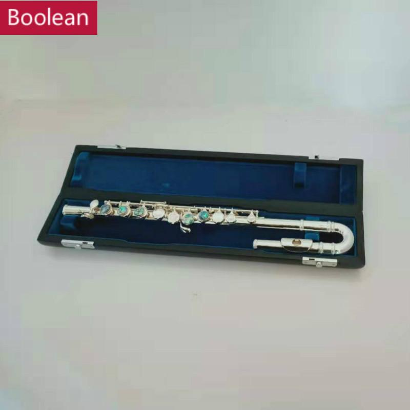 2020 Childrens Integral Flute Silver Plated C Tone Abalone ...