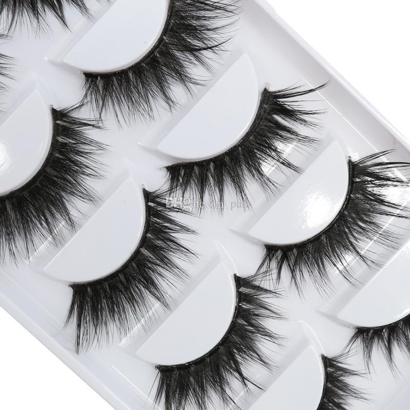 3D-Y05 DHL Free shipping 5pairs/set Y series transparent terrier False EyeLashes 5 Pairs 3D Natural soft silk Eyelashes Handmade eyelashes