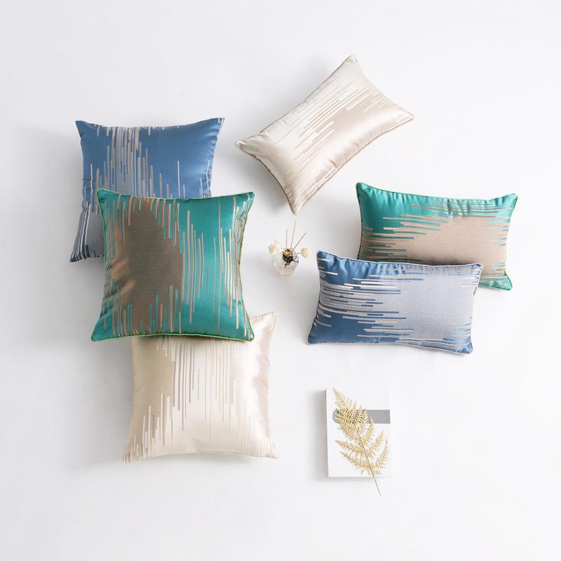 50x30 / 45x45cm Морден полосатого рисунок подушка покрытие диван жаккардовой наволочка поясничной крышка подушка спинка