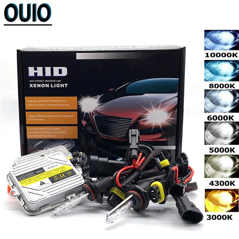 55W HID Xenon Kit Fast Start linterna del coche de los bulbos H1 H3 H4 Hi / Lo H11 9005 9006 3000 4300 Faros de Niebla 6000 10000K 12V automático de faros