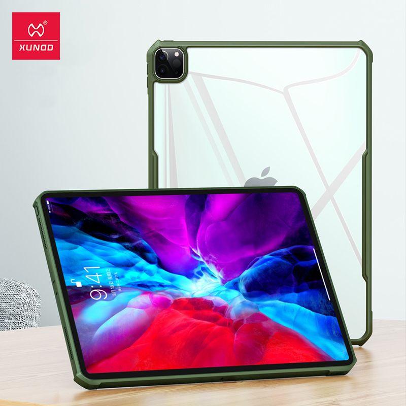 """2020 Durumunda iPad Pro 12.9"""" iPad Pro 11"""" için 2020 Tablet Kılıfı XUNDD Lüks Hava yastıkları Darbeye Koruyucu Şeffaf Arka Shell için"""