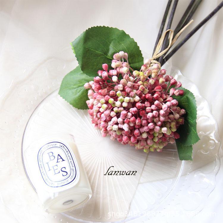 5 رؤساء محاكاة بيري مطاط الاصطناعي الكوبية باقة من الزهور التصوير الدعائم الزفاف Decoratios منازل الاصطناعي التوت باقة
