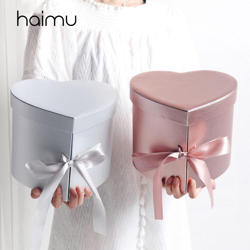 Double Heart High Grade Begleitet von Hand Geschenk Blumen Verpackung Box