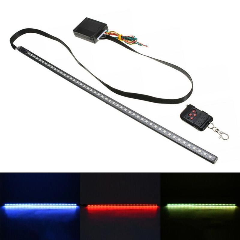Alta Qualidade 22inch 48LED RGB Car Scanner Knight Rider Strobe Flash Light Faixa + Remoto Para LED luzes do carro Ferramentas