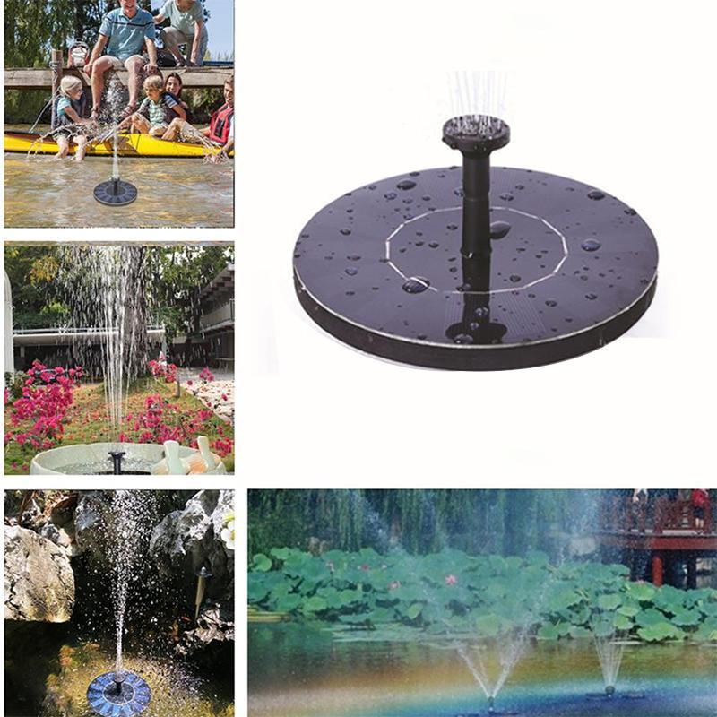 Mini Solar Fountain Garden Pool Pond Painel Solar Floating Fountain Garden Decoration Fonte de água Drop Shipping T200619