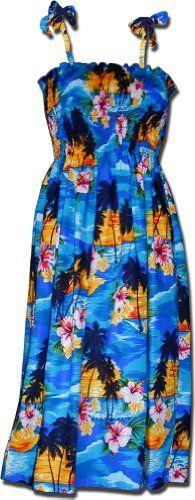 Hawaiian Smocked Dress Waikiki Sunset