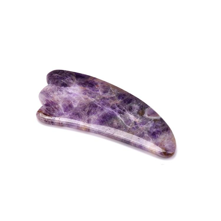 Natural Skincare Amethyst Guasha Scraping Tools Massager Facial Product , for Face Neck Hand and Body(horn)