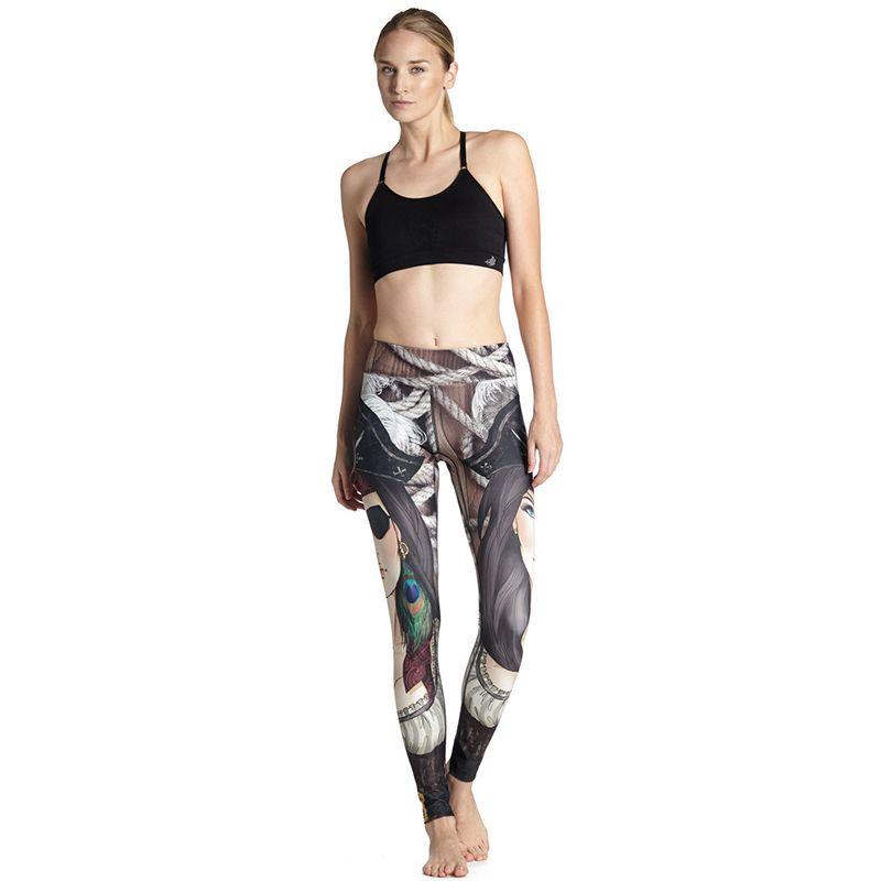 Lady Yoga Leggings One-eyed Pirate 3D Digital Full Print Full Length Pencil Pants Girls Casual Pencil Fit Woman Runner Jeggings (Yyoga0026)